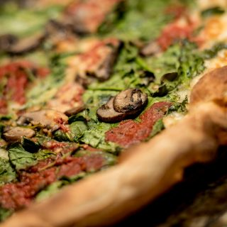 Delicious pizza at Dimeos near The National in Old City