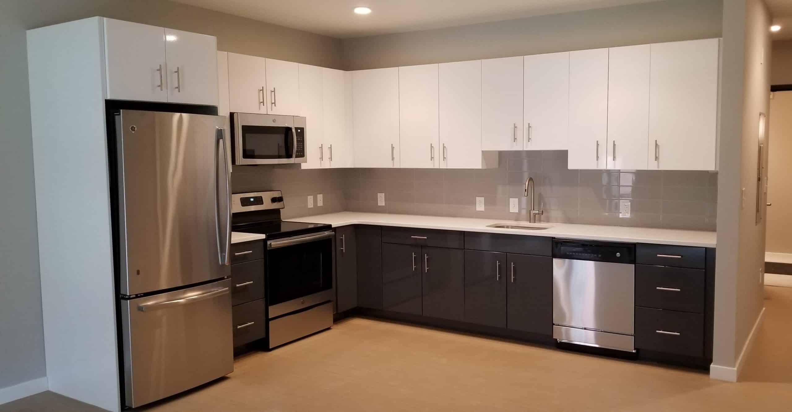 Model kitchen at Old City Philadelphia apartment